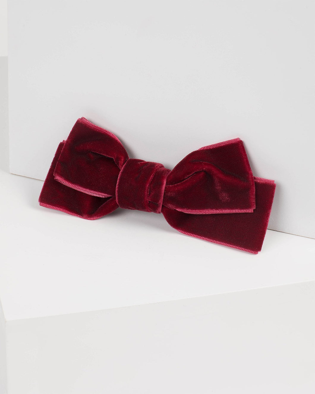 Red Medium Bow Hair Clip