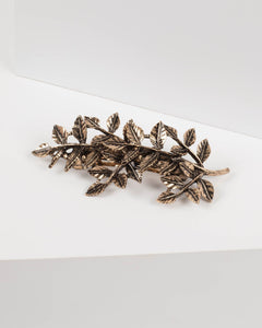 Antique Gold Leaf Hair Clip