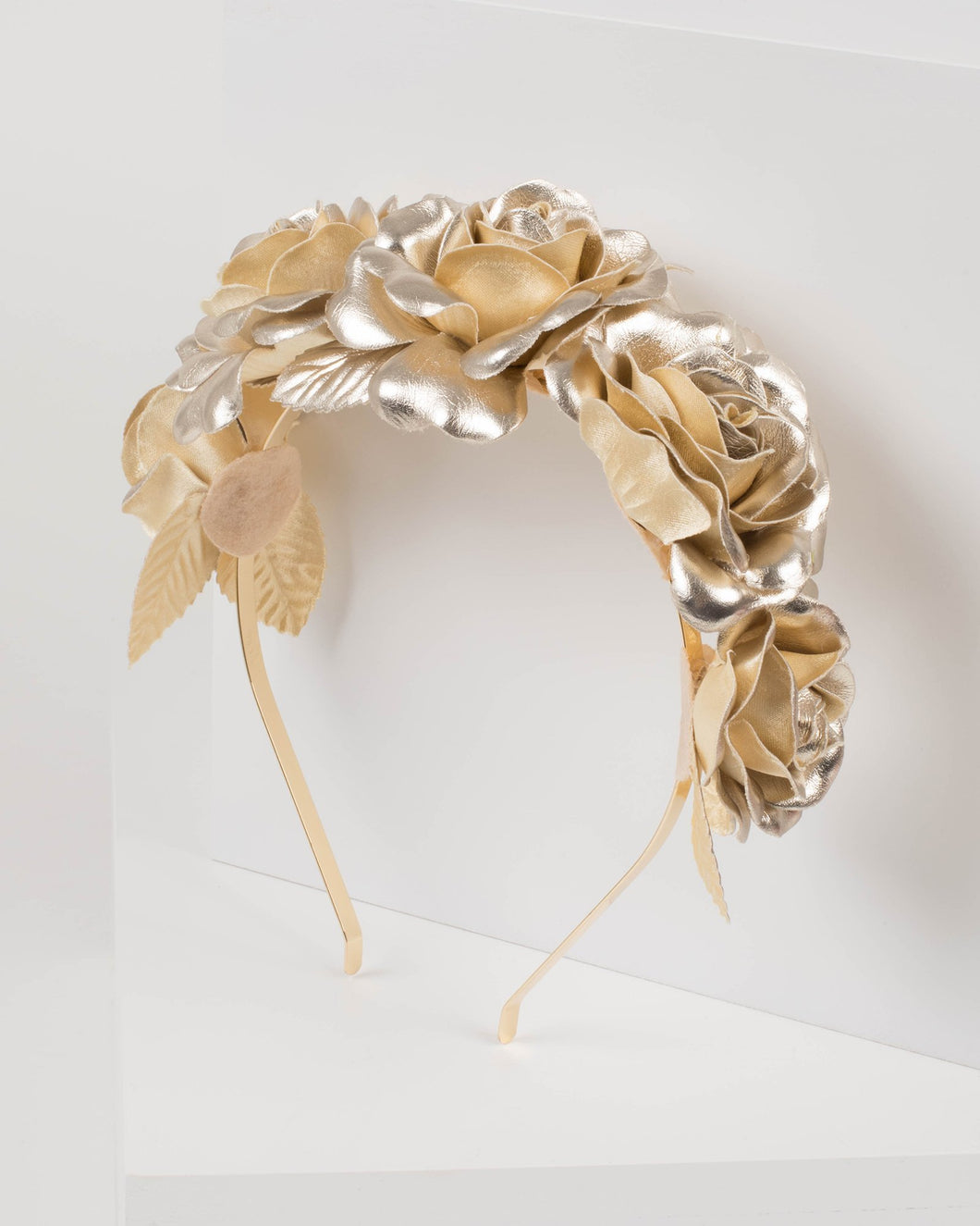 Gold Large Statement Floral Headband