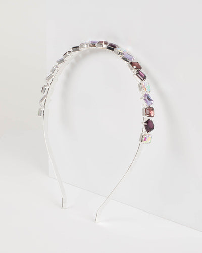 Purple Multi Jewelled Headband