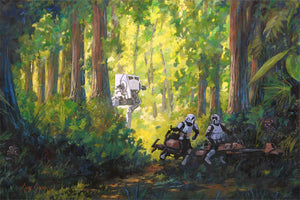 """Imperial Scout Troopers""  -  Giclee on Canvas"