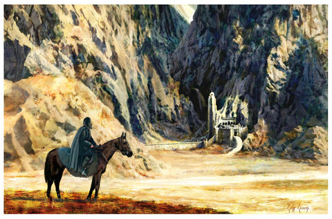 """Aragorn Arrives At Helms Deep""  ---  Giclee on Paper"