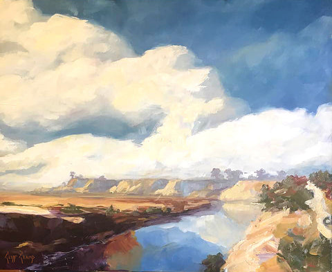 """Back Bay Clouds""  ---  ""12 x 16"" ---  Oil"