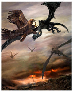 """Battle Above Morannan""  ---  Giclee on Paper"