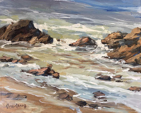 """Blue Water""  ---  10"" x 8""  ---  Oil"