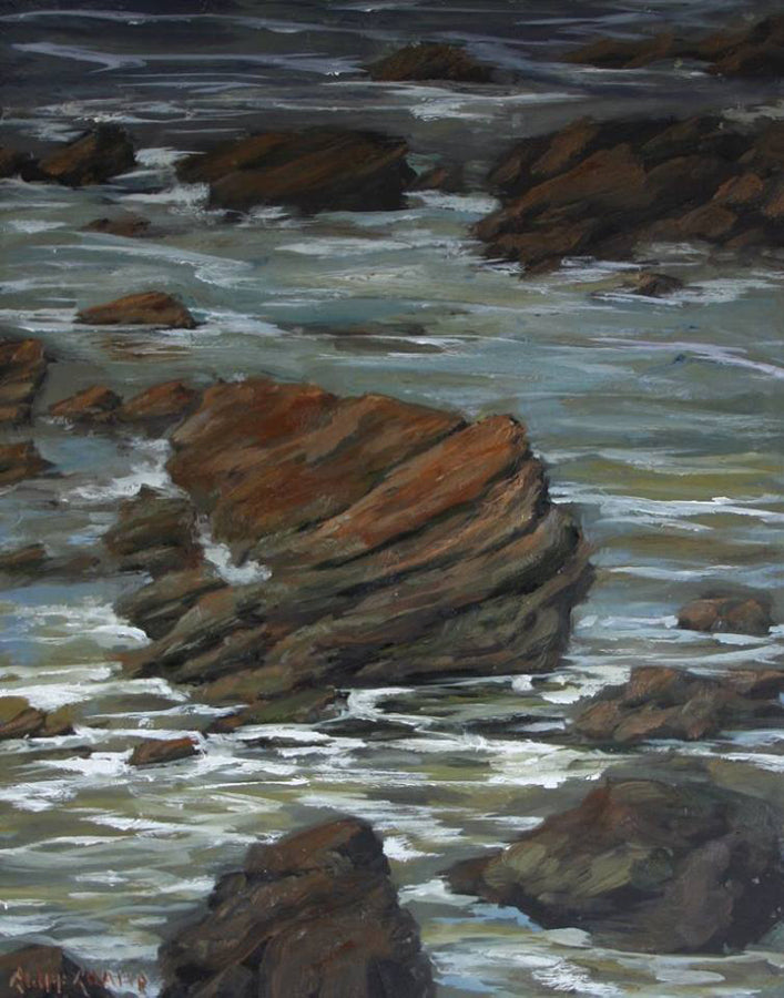 """Carved Rocks""  ---  16"" x 20""  ---  Oil"