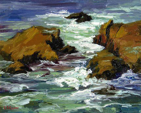 """Dana Point""  --- 14' x 11"" ---  Oil"