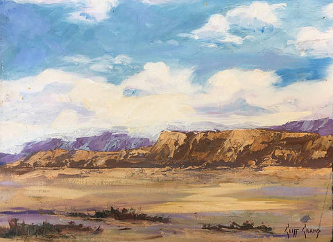 """Desert Clouds""  --- 12"" x 9""  ---  Oil"