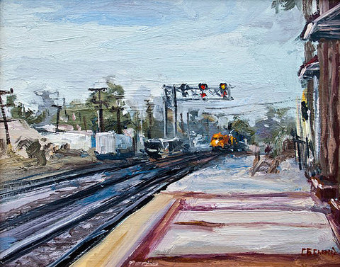 """Fullerton Station""  --- 14"" x 11""  ---  Oil"