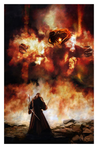 """Gandalf And Balrog""  ---  Giclee on Paper"