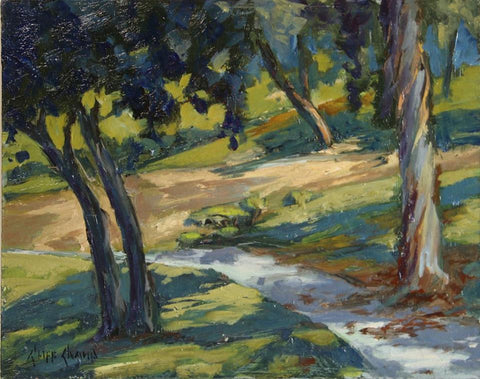 """Hillcrerst Path""  ---  14"" x 11""  ---  Oil"