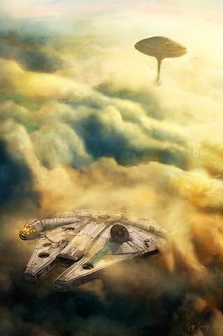 """Leaving Bespin""  ---  Giclee on Canvas"