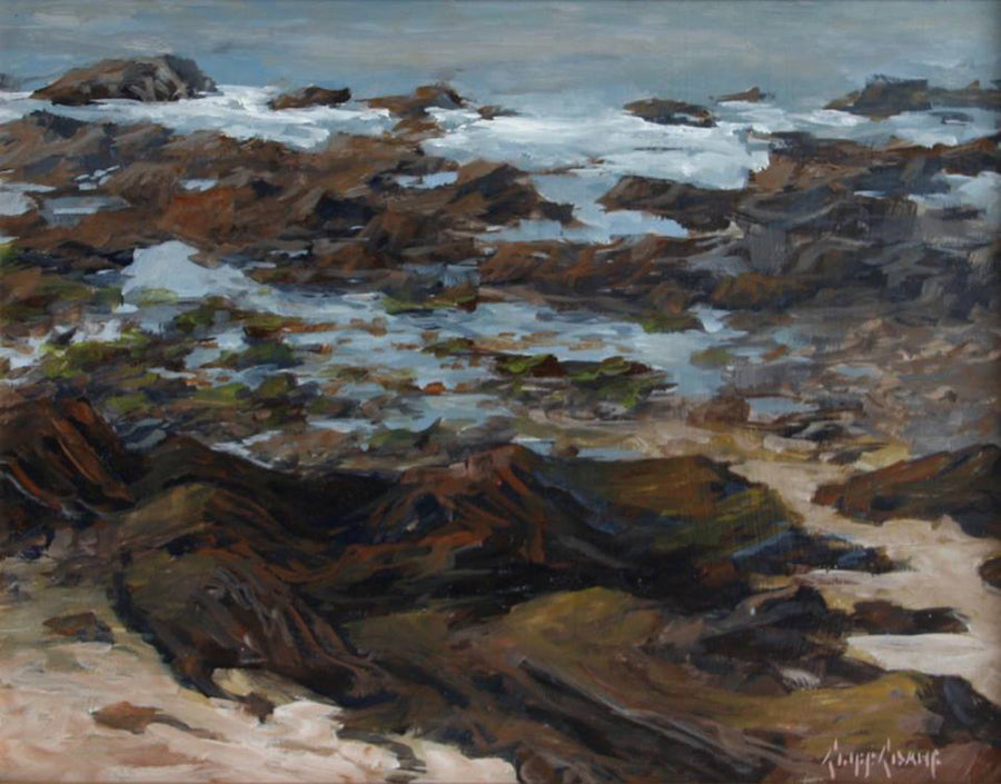 """Little Carona At Low Tide""  ---  14"" x 11"" ---  Oil"