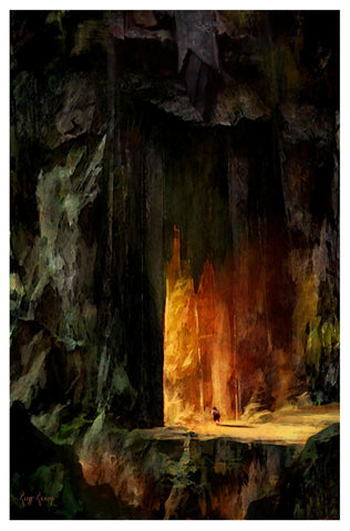 """Mount Doom""  ---  Giclee on Paper"