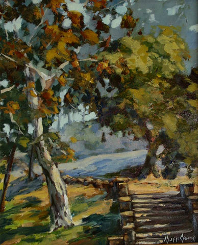 """Old Stairs At Hillcrest""  ---  11"" x 14"" --- Oil"