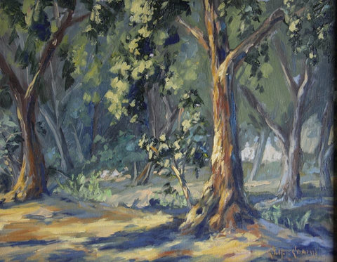 """Park At Dawn""  --- 14"" x 11""  ---  Oil"
