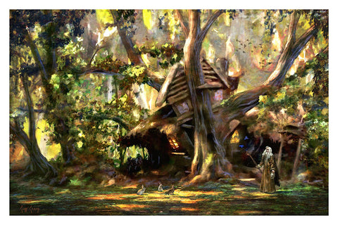 """Radagast V""  ---  Giclee on Paper"