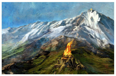 """The Beacons Of Gondor""  ---  Giclee on Paper"
