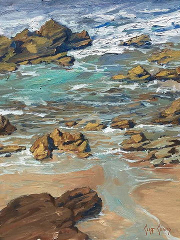 """Tide Pools""  --- 11"" x 14""  ---  Oil"