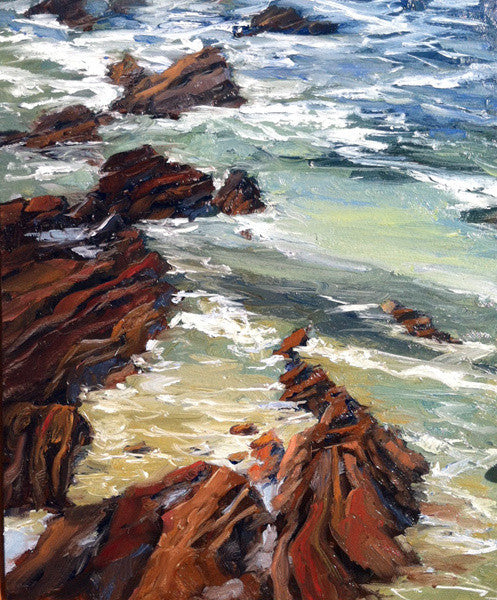 """Tide Rocks""  ---  ""11x 14 ""  ---  Oil"
