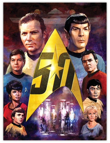"""TOS 50th Crew""  ---  Lithograph"
