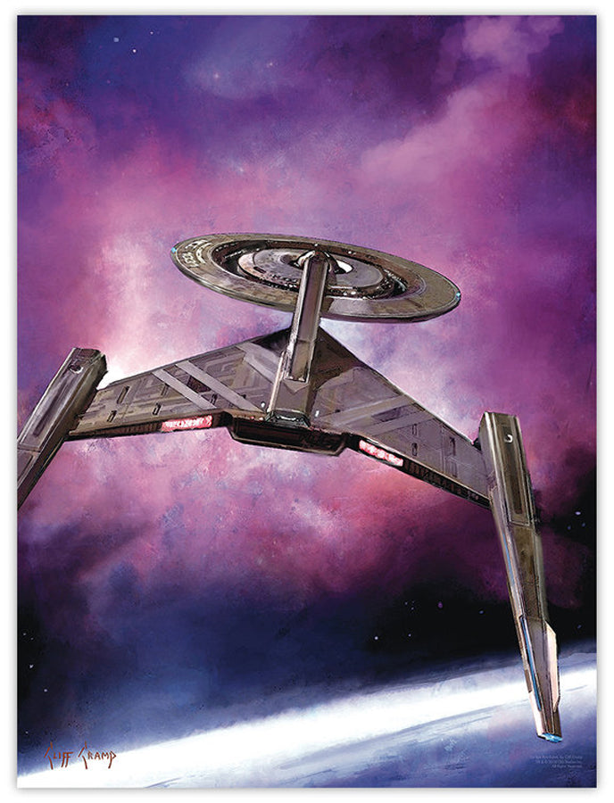 """USS Discovery""  ---  Lithograph"