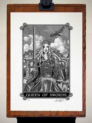 Print - Arcana Queen Of Swords