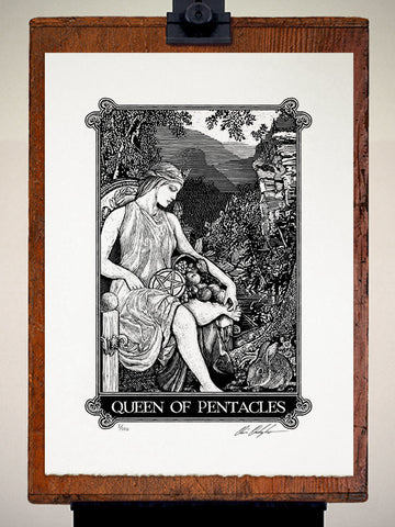 Print - Arcana Queen Of Pentacles