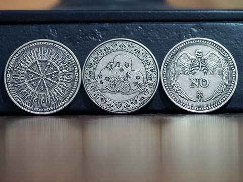 Coin Set-Three Coin Silver Finish Collection