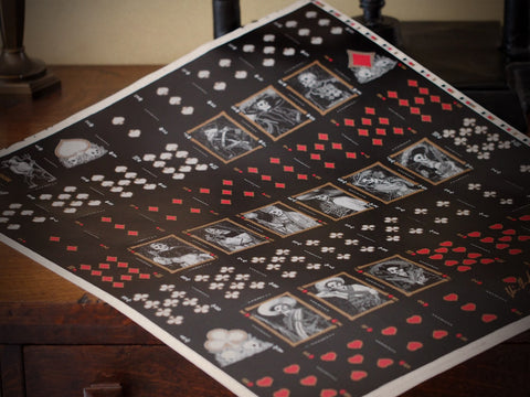 Uncut Sheet-Midnight Calaveras Uncut Sheet