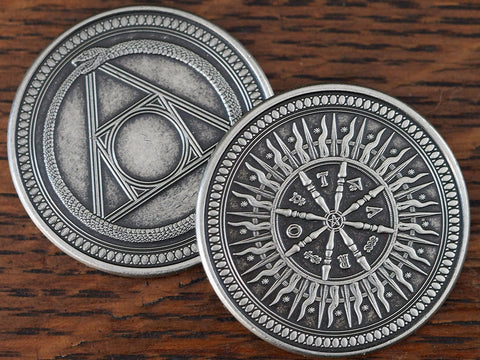 Coin-Arcana Silver Finish Coin