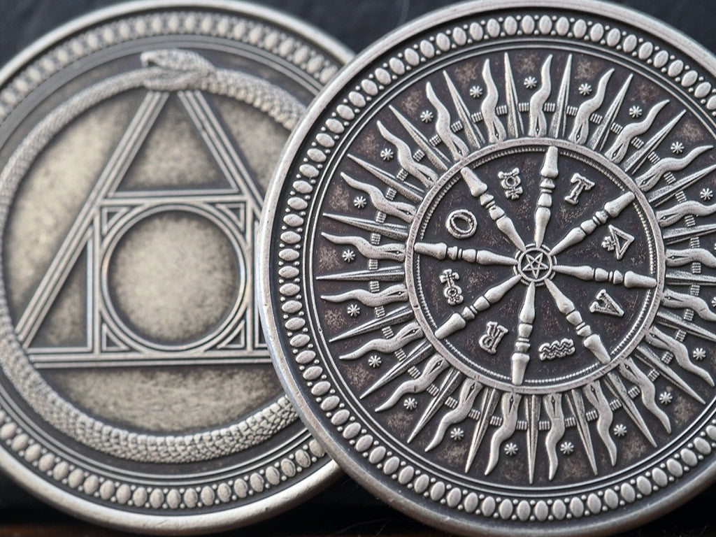 Arcana Silver Finish Coin Dead On Paper