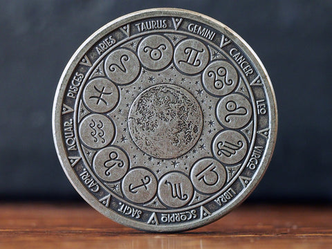 Ecliptic Silver Finish Coin