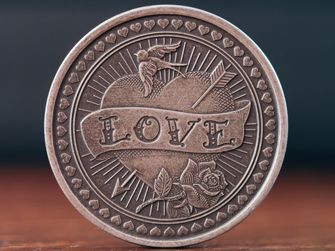 Coin-Love or Hate Antique Silver Coin