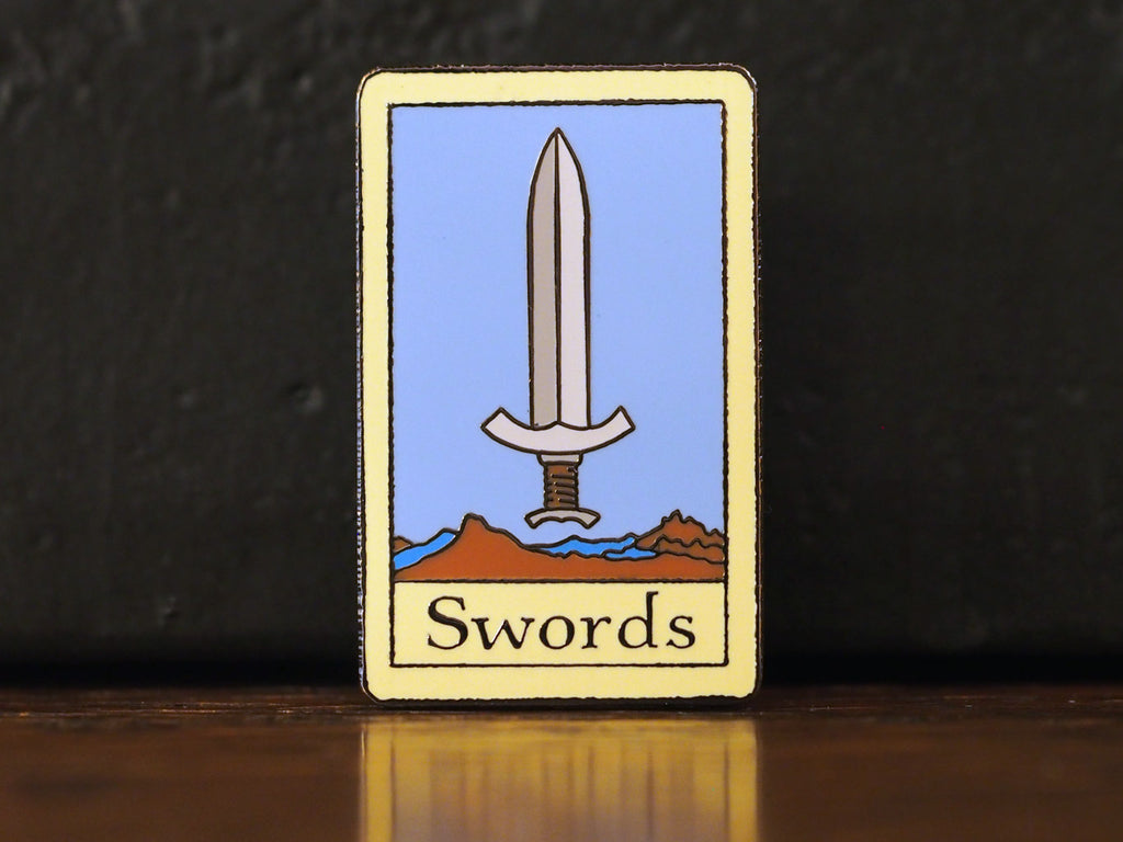 Tarot Swords Hard-Enameled Pin