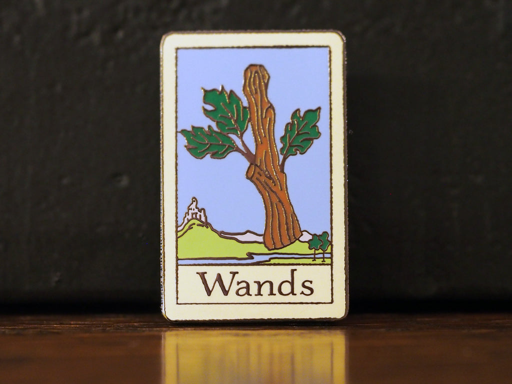 Tarot Wands Hard-Enameled Pin