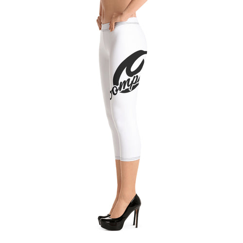 Oomphff Embroidered Capri Leggings