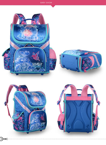 LOVELY KITTEN ORTHOPEDIC SCHOOLBAG