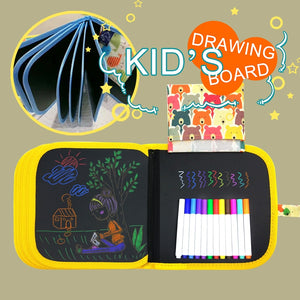 FLEXOKID PORTABLE ERASABLE DRAWING BOOK (GREAT FOR TRAVEL)