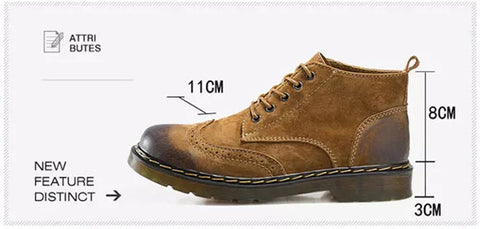 GOLDEN GENUINE LEATHER MEN BOOTS