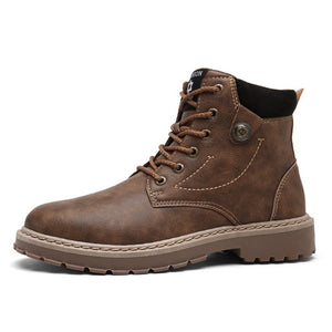 WINTER WARM LEATHER MEN BOOTS