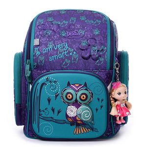 3D CARTOON OWL PATTERN GIRL BACKPACK (NEW DESIGN)