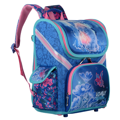 Image of LOVELY KITTEN ORTHOPEDIC SCHOOLBAG