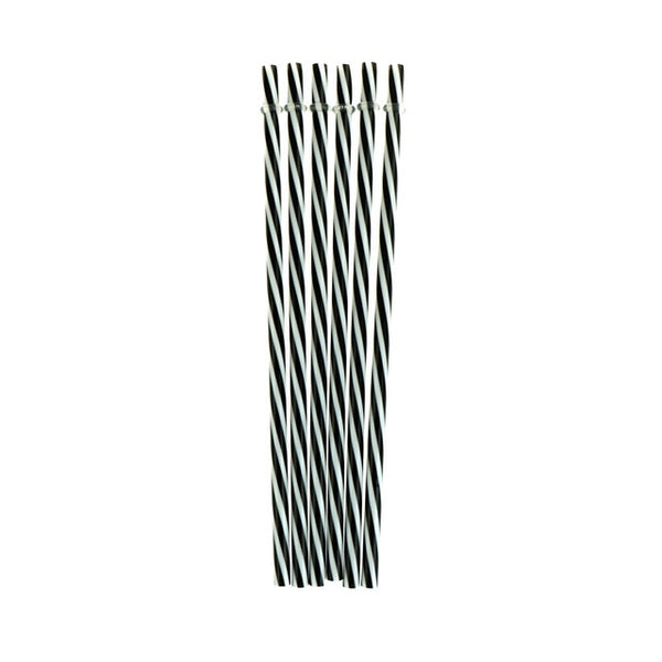 New 6Pcs Hard Plastic Reusable Biodegradable Distored Color Beverage Stripe Drinking Straws Party Wedding Bar/Pub Supplies