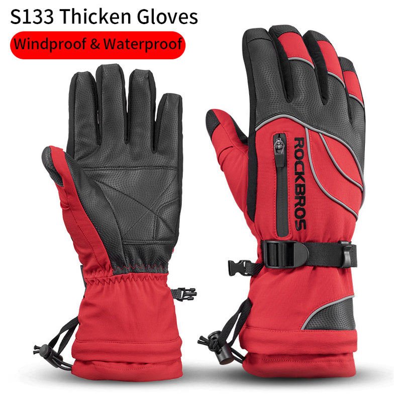 RockBros Winter Cycling Full Finger Gloves Windproof Thermal Warm Sports Gloves