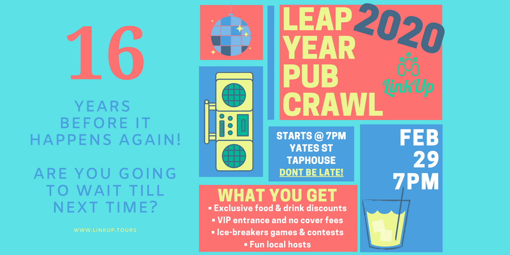 Are you going to wait 16 years before another weekend like this? | Leap Year Pub Crawl 2020