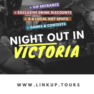 Victoria BC Backpacker's Night Out - LinkUp Tours