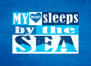 Wood Frames - Beach - My Heart Sleeps By The Sea