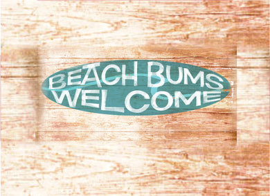 Wood Frames - Beach - Beach Bums Welcome
