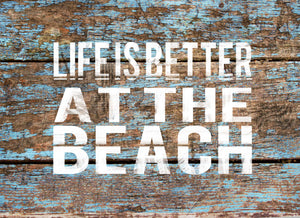 Wood Frames - Beach - Life Is Better At Beach